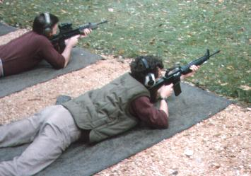 Me firing an M-16 on the college range