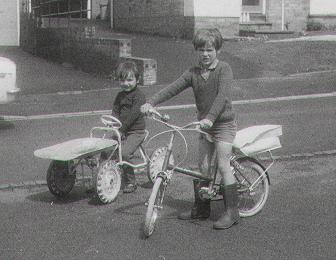 Myself (on the bike) and my brother in the mid '70s