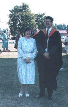 Me at my graduation from college with my mum