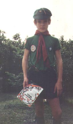Me in the cubs (19th Bermuda pack) aged about 10/11