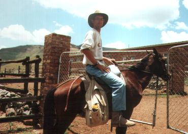 This is me on a horse in Lesotho 1990